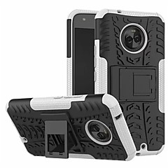 Недорогие Чехлы и кейсы для Motorola-Кейс для Назначение Motorola C со стендом Кейс на заднюю панель броня Твердый ПК для Moto X4