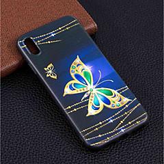 Недорогие Кейсы для iPhone X-Кейс для Назначение Apple iPhone XR / iPhone XS Max С узором Кейс на заднюю панель Бабочка Мягкий ТПУ для iPhone XS / iPhone XR / iPhone XS Max