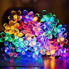 abordables Tiras de Luces LED-6m Cuerdas de Luces 30 LED Blanco Cálido / Blanco Decorativa Funciona con Energía Solar 1 juego