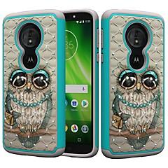 Недорогие Чехлы и кейсы для Motorola-Кейс для Назначение Motorola MOTO G6 / Moto G6 Play Защита от удара / Стразы / С узором Кейс на заднюю панель Сова / Стразы Твердый ПК для MOTO G6 / Moto G6 Play / Moto E5 Play