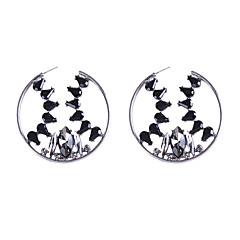 abordables Bijoux pour Femme-Femme Cristal Sculpture Boucles d'oreille gitane - Plaqué or Européen Or / Blanc / Noir Pour Quotidien