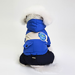 お買い得  犬用ウェア&アクセサリー-犬用 コート 犬用ウェア カラーブロック グレー / レッド / ブルー コットン / 混合材 コスチューム ペット用 男女兼用 防風 / カジュアル / スポーティ