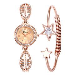 preiswerte Damenuhren-Damen Armbanduhr Quartz 30 m Neues Design Armbanduhren für den Alltag Legierung Band Analog Luxus Modisch Silber / Rotgold - Weiß Schwarz Rotgold