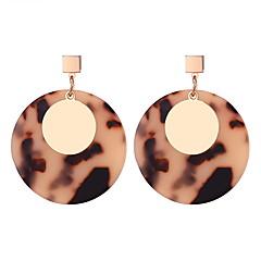 preiswerte Ohrringe-Damen Klassisch Tropfen-Ohrringe - Einfach, Europäisch, Modisch Gelb / Kaffee Für Normal Alltag
