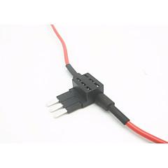 Недорогие Автоэлектроника-держатель плавкого предохранителя вставки для автомобиля / предохранитель для автомобильной вставки с электроприводом / 3-контактный плавкий предохранитель с двух сторон (без предохранителя вставки)