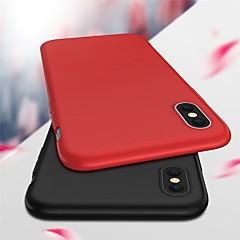 Недорогие Кейсы для iPhone 7-Кейс для Назначение Apple iPhone X Ультратонкий / Матовое Кейс на заднюю панель Однотонный Мягкий ТПУ для iPhone X / iPhone 8 Pluss / iPhone 8