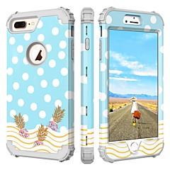 Недорогие Кейсы для iPhone 7 Plus-BENTOBEN Кейс для Назначение Apple iPhone 8 Plus / iPhone 7 Plus Защита от удара / С узором Чехол Города / Вид на город / Цветы Твердый Силикон / ПК для iPhone 8 Pluss / iPhone 7 Plus