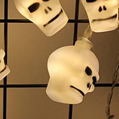お買い得  LED ストリングライト-2.5m ストリングライト 20 LED SMD5050 温白色 装飾用 単3乾電池 1セット