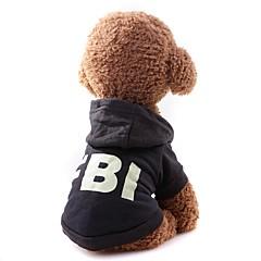 お買い得  犬用ウェア&アクセサリー-犬用 / 猫用 コート / スウェットシャツ 犬用ウェア ソリッド ブラック / レッド ファブリック コスチューム ペット用 男女兼用 シンプルなスタイル / カジュアル / スポーティ