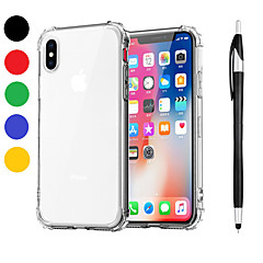Недорогие Кейсы для iPhone-Кейс для Назначение Apple iPhone XR / iPhone XS Max Защита от удара / Прозрачный Кейс на заднюю панель Однотонный Мягкий ТПУ для iPhone XS / iPhone XR / iPhone XS Max