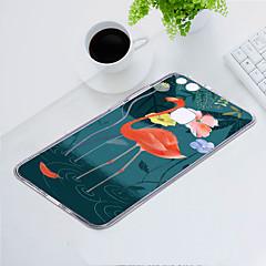 お買い得  Huawei Pシリーズケース/ カバー-ケース 用途 Huawei P10 Lite 耐埃 / 超薄型 / パターン バックカバー フラミンゴ / 動物 ソフト TPU のために P10 Lite
