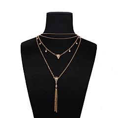 preiswerte Halsketten-Damen Quaste Y Halskette - Romantisch, Modisch Gold 43+5 cm Modische Halsketten Schmuck 1pc Für Alltag, Festival