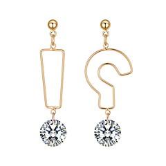 preiswerte Ohrringe-Damen Nicht übereinstimmend Tropfen-Ohrringe - Einfach, Einzigartiges Design, Koreanisch Gold Für Alltag Strasse