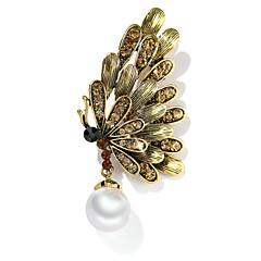 お買い得  ブローチ-女性用 レトロ ブローチ  -  真珠 ミツバチ 欧風 ブローチ 青銅色 / シルバー / グレー 用途 日常