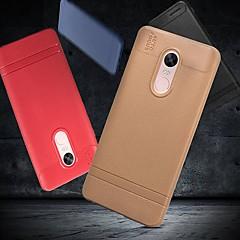Недорогие Чехлы и кейсы для Xiaomi-Кейс для Назначение Xiaomi Redmi Note 5 Pro / Redmi 6 Матовое Кейс на заднюю панель Однотонный Мягкий ТПУ для Redmi Note 5A / Xiaomi Redmi Note 4X / Redmi 6A