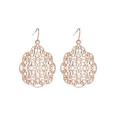 preiswerte Ohrringe-Damen Tropfen-Ohrringe - Blume Ethnisch, Elegant Schwarz / Silber / Rotgold Für Zeremonie Formal