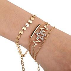 preiswerte Armbänder-Damen Mehrschichtig Ketten- & Glieder-Armbänder - Romantisch Armbänder Gold Für Geschenk Festival / 3 Stück