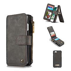 Недорогие Кейсы для iPhone 5-Кейс для Назначение Apple iPhone 8 / iPhone 8 Plus Кошелек / Бумажник для карт / Защита от удара Чехол Однотонный Твердый Настоящая кожа для iPhone 8 Pluss / iPhone 8 / iPhone 7 Plus