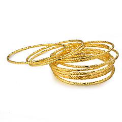 preiswerte Armbänder-Damen Klassisch Armreife - vergoldet Luxus, Ethnisch Armbänder Gelb Für Geburtstag Geschenk / 12 Stück