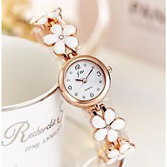 preiswerte Damenuhren-Damen Kleideruhr Armbanduhr Quartz Weiß / Gold Armbanduhren für den Alltag lieblich Analog damas Elegant Minimalistisch - Gold / Weiß Rotgold / Weiß