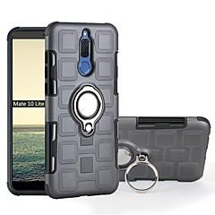 Недорогие Чехлы и кейсы для Huawei Mate-Кейс для Назначение Huawei Mate 10 pro / Mate 10 lite Защита от удара / Кольца-держатели Кейс на заднюю панель броня Мягкий ТПУ для Mate 10 pro / Mate 10 lite