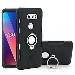 お買い得  Samsung その他の機種用ケース/カバー-ケース 用途 Samsung Galaxy V30 / Q6 耐衝撃 / バンカーリング バックカバー 鎧 ソフト TPU のために LG V30 / LG Q6