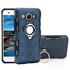 Недорогие Чехлы и кейсы для Huawei серии Y-Кейс для Назначение Huawei Y3 (2017) / P9 lite mini Защита от удара / Кольца-держатели Кейс на заднюю панель броня Мягкий ТПУ для P9 lite mini / Huawei Y3 (2017)