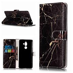 Недорогие Чехлы и кейсы для Nokia-Кейс для Назначение Nokia Nokia 7 Plus / Nokia 6 2018 Кошелек / Бумажник для карт / со стендом Чехол Мрамор Твердый Кожа PU для Nokia 7 Plus / Nokia 6 2018 / Nokia 1