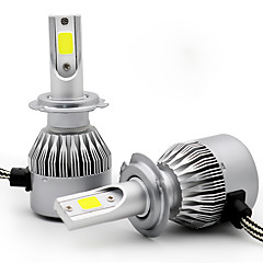 Недорогие Автомобильные фары-2pcs H9 / H7 / H3 Автомобиль Лампы 55 W COB 3800 lm 2 Светодиодная лампа Налобный фонарь For Универсальный Универсальный Все года