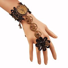 preiswerte Armbänder-Damen Geflochten Ring-Armbänder - Blume, Ausrüstung Retro, Steampunk Armbänder Schwarz Für Karnival Maskerade
