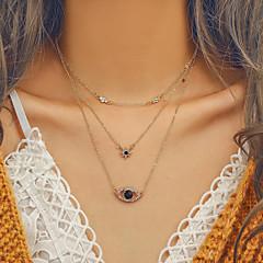 お買い得  ネックレス-女性用 レイヤード レイヤードネックレス  -  欧風, トレンディー, ビキニ かわいい ゴールド 37 cm ネックレス ジュエリー 1個 用途 お出かけ, バレンタイン