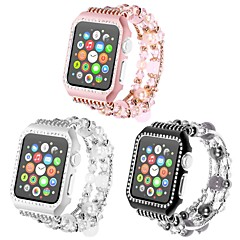 お買い得  腕時計用アクセサリー-金属シェル 時計バンド ストラップ のために Apple Watch Series 4/3/2/1 ブラック / 白 / ピンク 23センチメートル / 9インチ 2.1cm / 0.83 Inch