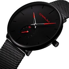 お買い得  メンズ腕時計-男性用 リストウォッチ 日本産 クォーツ クロノグラフ付き キュート クリエイティブ ステンレス バンド ハンズ バングル ファッション ブラック - ブラック レッド ブルー 2年 電池寿命