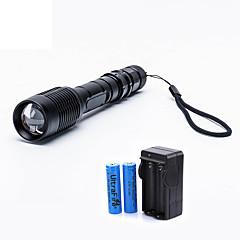 abordables Linterna-2000 lm Linternas LED LED 5 Modo - UltraFire Zoomable / Enfoque Ajustable