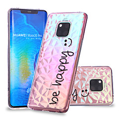 Недорогие Чехлы и кейсы для Huawei Mate-Кейс для Назначение Huawei Huawei Mate 20 Lite / Huawei Mate 20 Pro С узором Кейс на заднюю панель Слова / выражения Мягкий ТПУ для Huawei Nova 3i / P smart / Huawei P Smart Plus