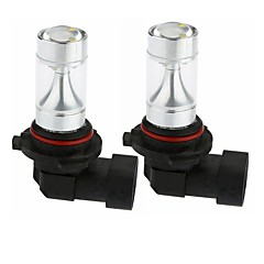 Недорогие Противотуманные фары-sencart 2шт 9005 30w 6x3535 красные / желтые / холодные белые супер яркие лучевые лампы привели фары переменного / постоянного тока 12-24v
