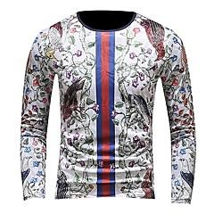 billige Herre Toppe-Herre - Farveblok Broderi / Trykt mønster Aktiv / Gade T-shirt