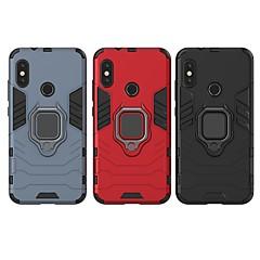 Недорогие Чехлы и кейсы для Xiaomi-Кейс для Назначение Xiaomi Xiaomi Redmi 6 Pro Защита от удара / Кольца-держатели Кейс на заднюю панель Однотонный / броня Твердый ПК для Xiaomi Redmi 6 Pro