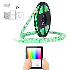 abordables Sets de Luces-zigbee led strip 5m rgb 5050smd aplicación inteligente de control compatible con amazon echo plus y zigbee bridge ac100-240v