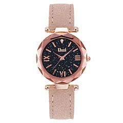 preiswerte Damenuhren-Damen Armbanduhr Quartz Wasserdicht Armbanduhren für den Alltag Echtes Leder Band Analog Freizeit Schwarz / Rot / Braun - Rot Grün Rosa