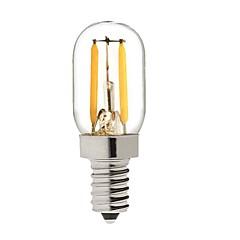 preiswerte LED-Birnen-KWB 2W 150-200lm E14 LED Kugelbirnen S14 2 LED-Perlen COB Abblendbar Warmes Weiß 220-240V