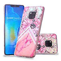 Недорогие Чехлы и кейсы для Huawei Mate-Кейс для Назначение Huawei Huawei Mate 20 Lite / Huawei Mate 20 Pro С узором Кейс на заднюю панель Цветы / Мрамор Мягкий ТПУ для Huawei Nova 3i / P smart / Huawei P Smart Plus