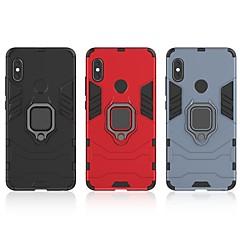 Недорогие Чехлы и кейсы для Xiaomi-Кейс для Назначение Xiaomi Redmi Note 5 Pro Защита от удара / Кольца-держатели Кейс на заднюю панель Однотонный / броня Твердый ПК для Xiaomi Redmi Note 5 Pro / Xiaomi Redmi Примечание 5