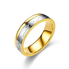preiswerte Ringe-Paar Klassisch Ring - Titanstahl Herz Einfach, Klassisch, Grundlegend 6 / 7 / 8 / 9 / 10 Gold Für Geschenk Alltag Verabredung
