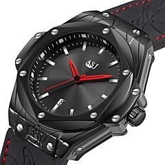 お買い得  メンズ腕時計-ASJ 男性用 ドレスウォッチ リストウォッチ 日本産 日本産クォーツ 本革 ベルト素材 ブラック 100 m 耐水 カレンダー カジュアルウォッチ ハンズ ぜいたく ファッション - ブラック シルバー /  ブラック 1年間 電池寿命 / SSUO AG4