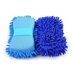 abordables Cuidado del Coche-Esponja multifuncional de lavado de coches de microfibra esponjas de lavado de chenilla para automóviles