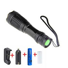 preiswerte Taschenlampen-LED Taschenlampen LED LED 2000 lm 5 Beleuchtungsmodus inklusive Batterie und Ladegerät einstellbarer Fokus Camping / Wandern / Erkundungen, Für den täglichen Einsatz, Radsport