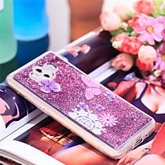 Недорогие Чехлы и кейсы для Huawei Mate-Кейс для Назначение Huawei Mate 10 Защита от удара / Сияние и блеск Кейс на заднюю панель Бабочка / Сияние и блеск Мягкий ТПУ для Mate 10