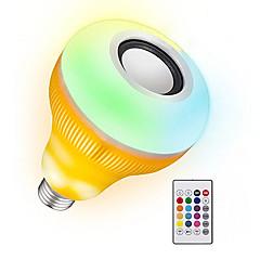 お買い得  LED 電球-YWXLIGHT® 1個 12 W 1050-1150 lm B22 / E26 / E27 LEDスマート電球 48 LEDビーズ SMD 調光可能 / 音検知 / リモコン操作 RGB 85-265 V