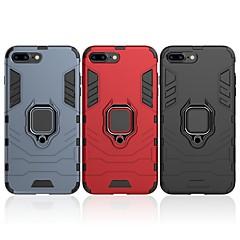 Недорогие Кейсы для iPhone 7 Plus-Кейс для Назначение Apple iPhone 7 Plus Защита от удара / Кольца-держатели Кейс на заднюю панель Однотонный / броня Твердый ПК для iPhone 7 Plus